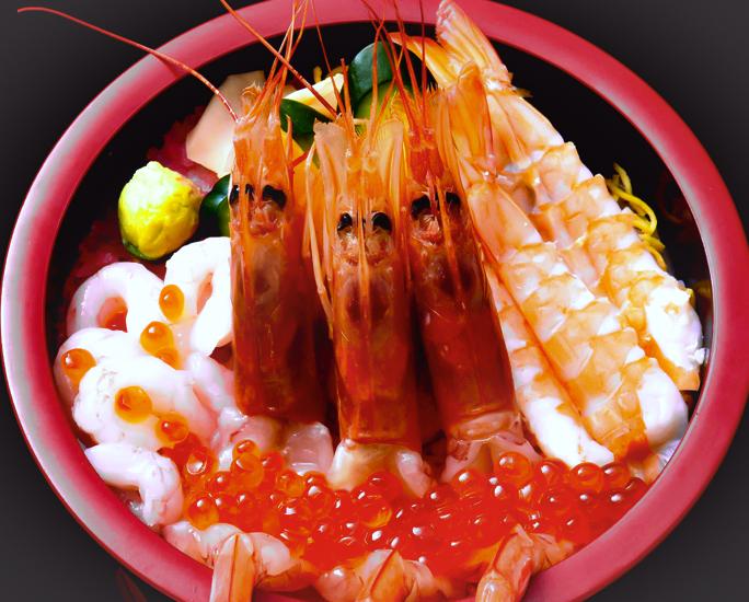 海老丼 画像